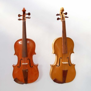 classical violin and barocque violin